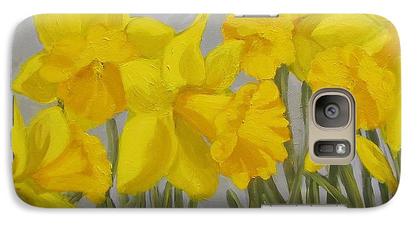 Galaxy Case featuring the painting Spring by Karen Ilari