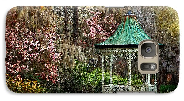 Galaxy Case featuring the photograph Spring Magnolia Garden At Magnolia Plantation by Kathy Baccari