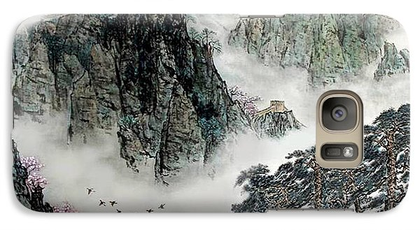Galaxy Case featuring the photograph Spring Mountains And The Great Wall by Yufeng Wang