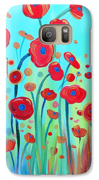 Galaxy Case featuring the painting Spring Musings by Stacey Zimmerman