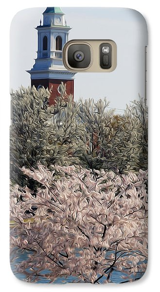 Galaxy Case featuring the digital art Spring On Fountain Lake by Kelvin Booker