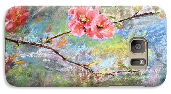 Galaxy Case featuring the painting Spring Peach Blosom by Jieming Wang
