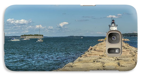 Galaxy Case featuring the photograph Spring Point Ledge Lighthouse by Jane Luxton