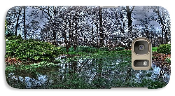 Galaxy Case featuring the photograph Spring Rains In The Garden by Kimberleigh Ladd