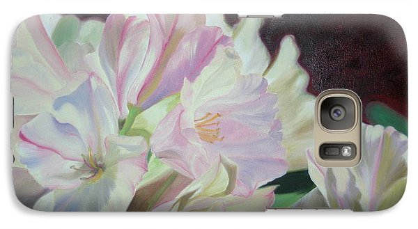 Galaxy Case featuring the painting Spring Rhodys by Nancy Jolley