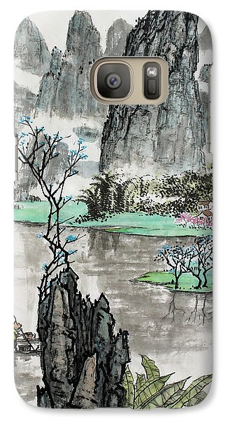 Galaxy Case featuring the photograph Spring River II by Yufeng Wang