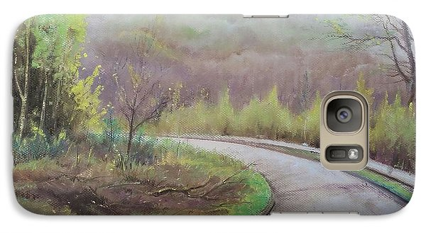 Galaxy Case featuring the painting Spring Road by Rose Wang