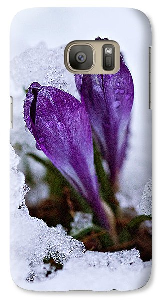 Galaxy Case featuring the photograph Spring Snow by Joan Davis