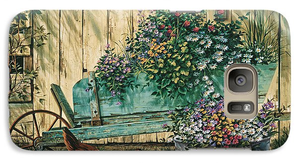 Galaxy Case featuring the painting Spring Social by Michael Humphries