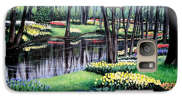 Galaxy Case featuring the painting Spring Spendor Tulip Garden by Patricia L Davidson