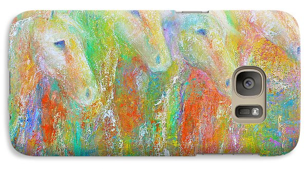 Galaxy Case featuring the painting Spring Splash by Jennifer Godshalk