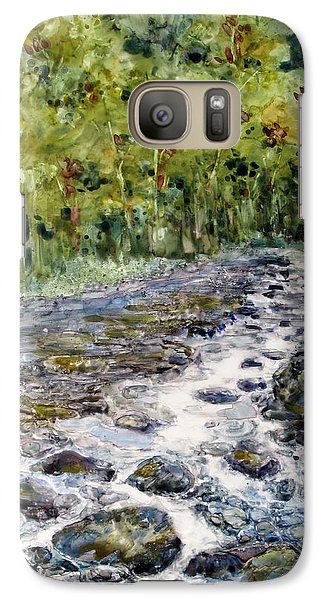 Galaxy Case featuring the painting Spring Stream by Louise Peardon