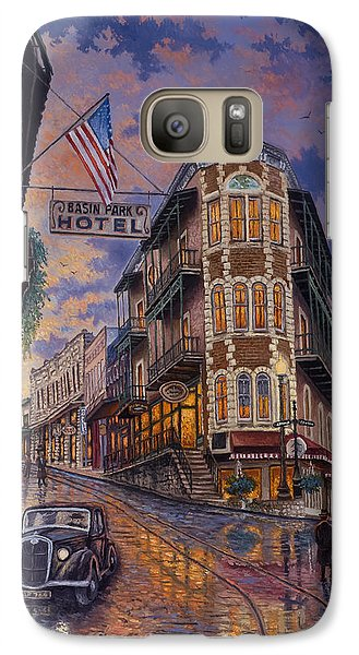 Galaxy Case featuring the painting Spring Street Memories by Kyle Wood