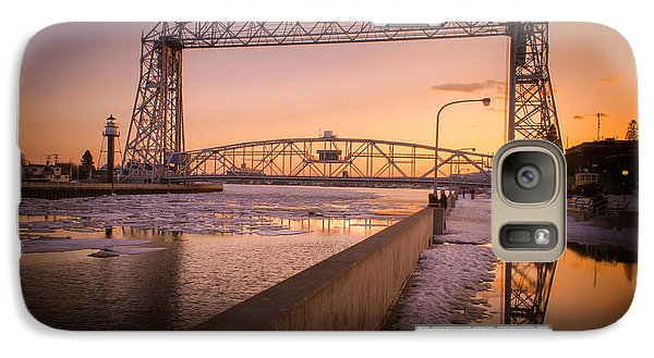 Galaxy Case featuring the photograph Spring Sunset In Canal Park by Mark David Zahn