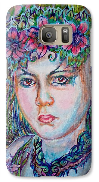 Galaxy Case featuring the painting Spring by Suzanne Silvir
