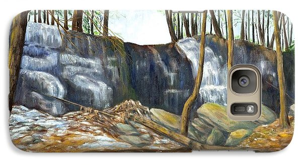 Galaxy Case featuring the painting Spring Thaw In The Ravine by Jeanne Kay Juhos
