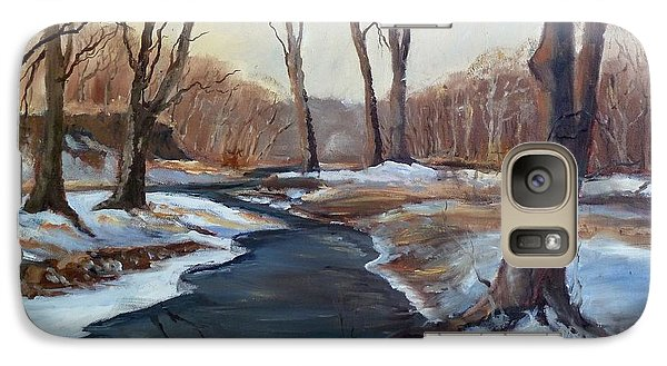 Galaxy Case featuring the painting Spring Thaw by Sally Simon
