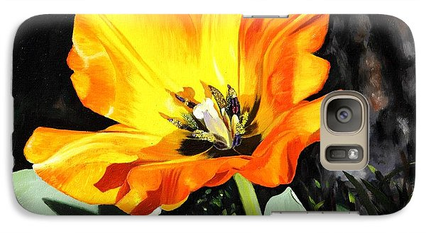 Galaxy Case featuring the painting Spring Tulip by Glenn Beasley