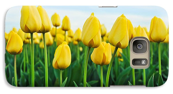 Galaxy Case featuring the photograph Spring Tulips by Crystal Hoeveler