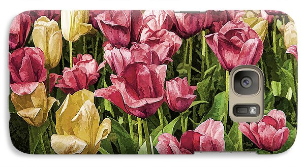 Galaxy Case featuring the photograph Spring Tulips by Linda Blair