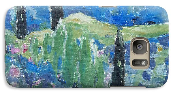 Galaxy Case featuring the painting Spring Valley 2 by Becky Kim