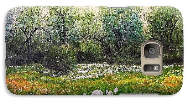 Galaxy Case featuring the painting Spring by Vesna Martinjak