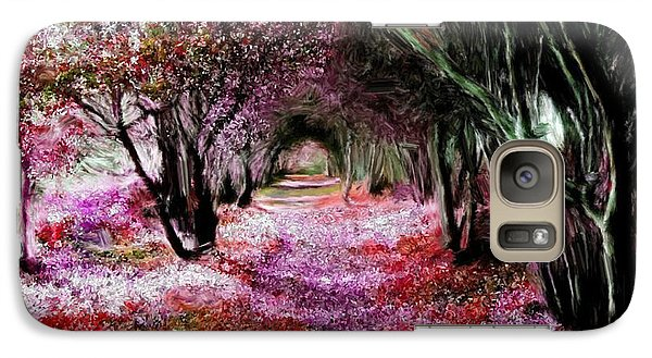 Galaxy Case featuring the painting Spring Walk In The Park by Bruce Nutting