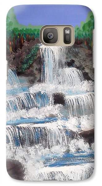 Galaxy Case featuring the painting Spring Waterfall by Carol Duarte
