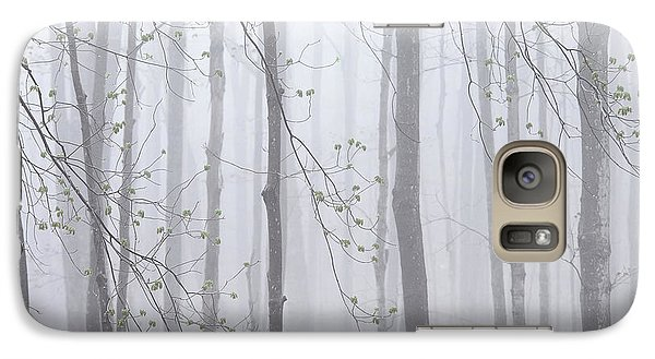 Galaxy Case featuring the photograph Spring Woodland Fog 1 by Alan L Graham