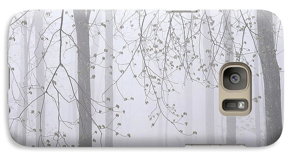 Galaxy Case featuring the photograph Spring Woodland Fog 2 by Alan L Graham
