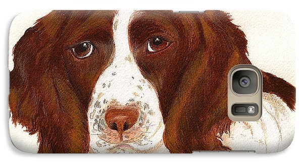 Galaxy Case featuring the painting Springer Spaniel  by Nan Wright