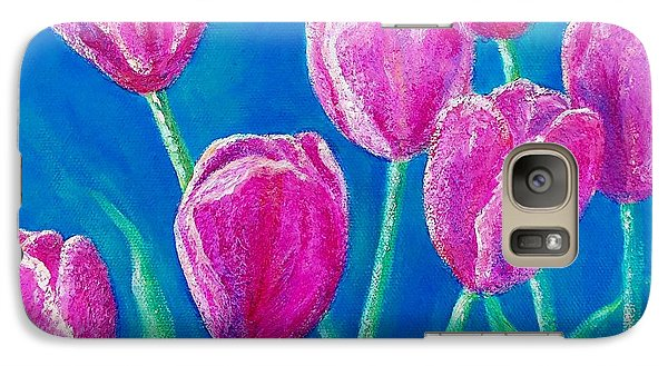 Galaxy Case featuring the painting Spring's Surprise by Susan DeLain