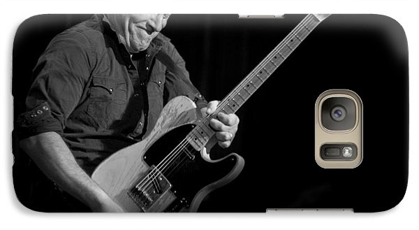 Galaxy Case featuring the photograph Springsteen Shreds Bw by Jeff Ross
