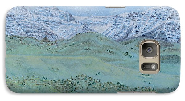 Galaxy Case featuring the pastel Springtime In The Rockies by Michele Myers