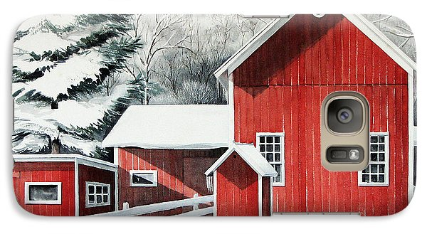 Galaxy Case featuring the painting Springwater Barns by Joan Hartenstein
