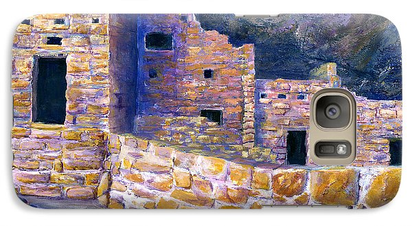 Galaxy Case featuring the painting Spruce House At Mesa Verde In Colorado by Lenora  De Lude