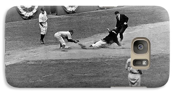 Spud Chandler Is Out At Third In The Second Game Of The 1941 Wor Galaxy S7 Case by Underwood Archives