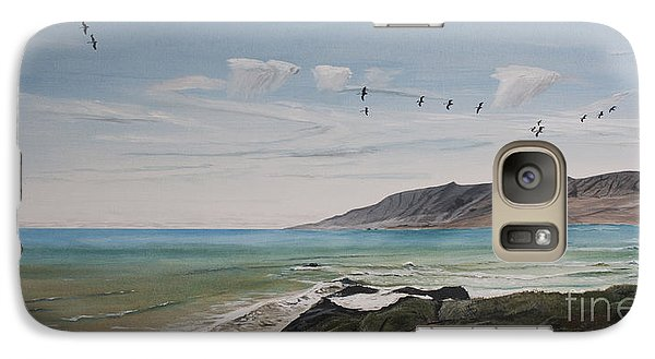 Galaxy Case featuring the painting Squadron Of Pelicans Central Califonia by Ian Donley