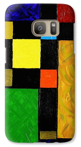 Galaxy Case featuring the painting Squared by Celeste Manning