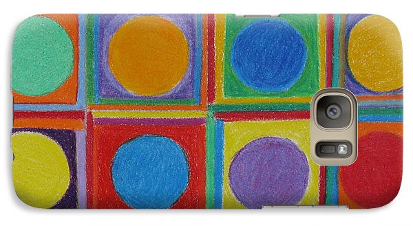 Galaxy Case featuring the drawing Squares And Circles by Patricia Januszkiewicz