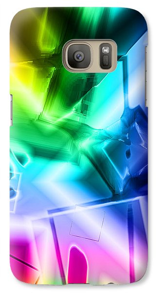 Galaxy Case featuring the digital art Squares by Lola Connelly
