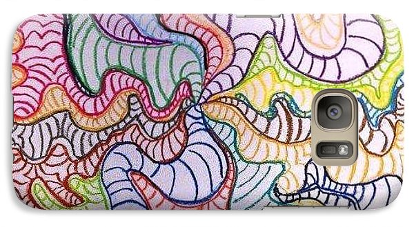 Galaxy Case featuring the painting Squiggle Dream by Artists With Autism Inc