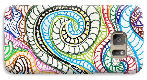 Galaxy Case featuring the painting Squiggle Snake by Artists With Autism Inc