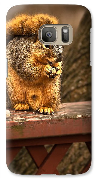 Squirrel Eating A Peanut Galaxy S7 Case by  Onyonet  Photo Studios