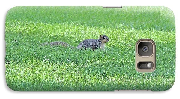 Galaxy Case featuring the photograph Squirrel In Grass by Lorna Rogers Photography