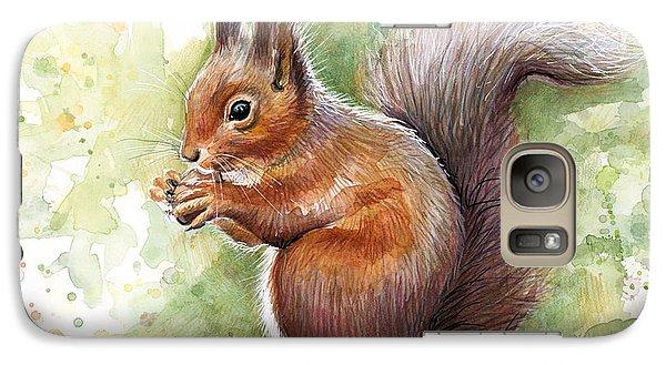 Squirrel Watercolor Art Galaxy S7 Case
