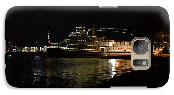 Galaxy Case featuring the photograph Ss Sicamous - Night Shot by Guy Hoffman