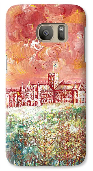 Galaxy Case featuring the painting St Albans Abbey - Stormy Weather by Giovanni Caputo