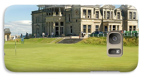 Galaxy Case featuring the photograph St Andrews Final Green And Clubhouse  by Jeremy Voisey