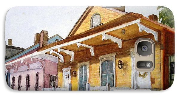 Galaxy Case featuring the painting St. Ann Street Scene - French Quarter by June Holwell